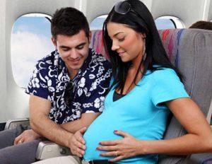 муж и жена в самолете